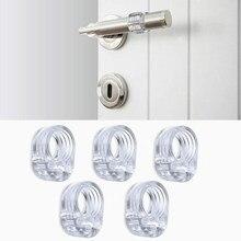 4 шт. дверной стоппер прозрачный силикагель дверные ручки буферная защита стены дверная бампер стен мебельная защитная
