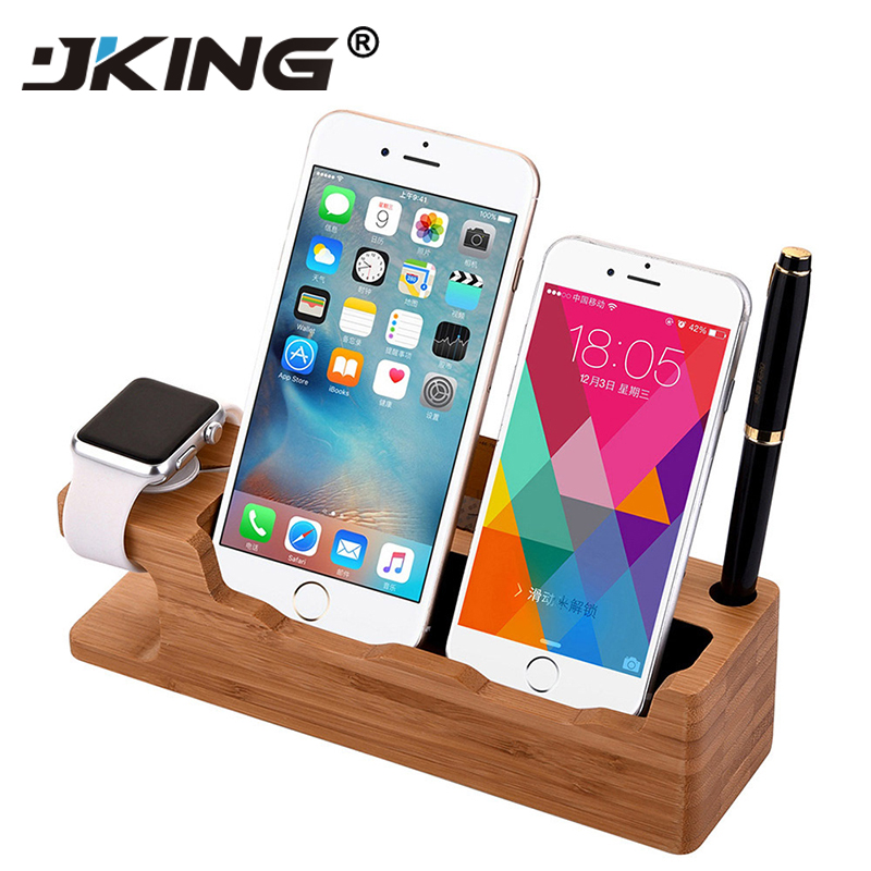 Wooden Charging Dock Station Mobile Phone Stand Holder Charger For Apple IPhone X 8 7 Plus 6 6S Plus 4s 5s SE For Apple Watch
