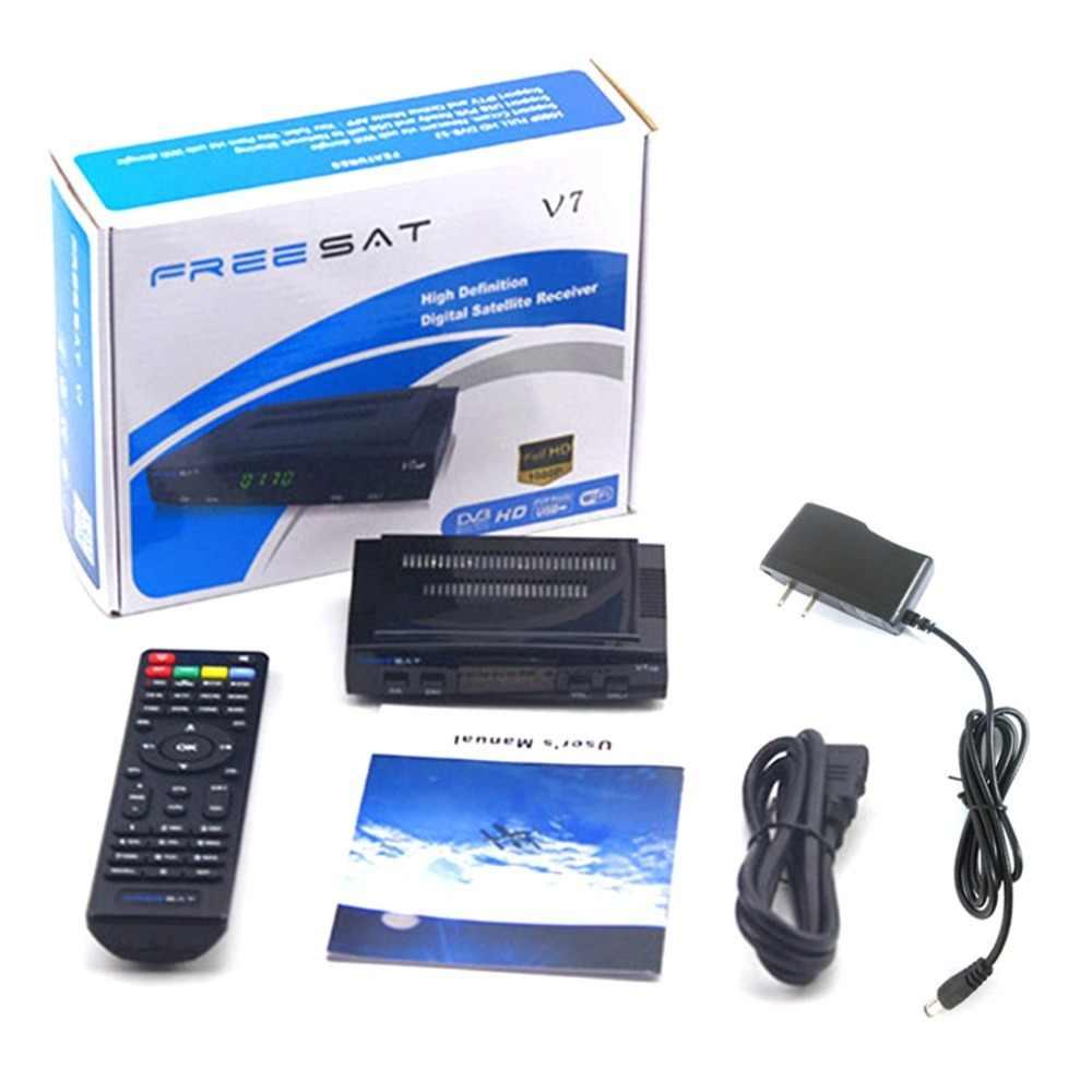 Originele Freesat V7 Hd Satelliet Decoder Ontvanger Volledige 1080P + 1 Pc Professionele Hd DVB-S2 + Usb Wifi Tv set Stabiel Signaal