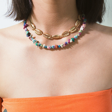 Ingemark Hawaii Puka Shell Choker Necklace Collar Statement Wedding Punk Irregular Stone Chips Chain Necklace for Women Jewelry недорого