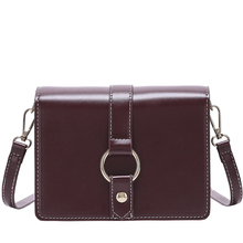 Crossbody Bag Simple Fashion Shoulder Women Leather Small Square