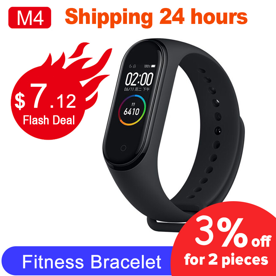 Smart Band M4 Fitness Bracelet Heart Rate Blood Pressure Pedometer Sport Wristband Waterproof Smartband For IOS Xiaomi Bracelets|Smart Wristbands| |  - title=
