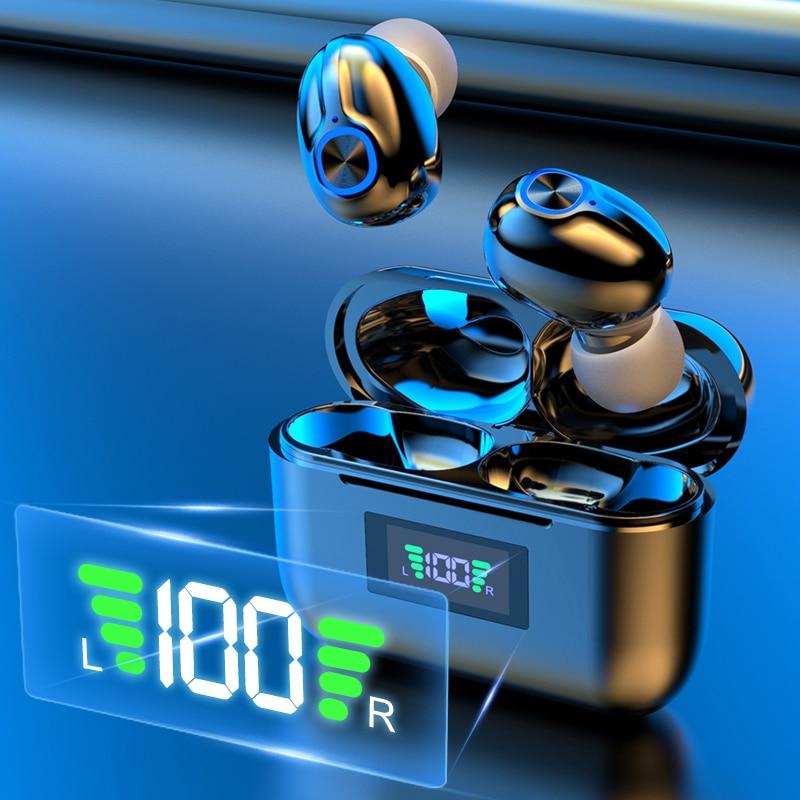 Bluetooth Беспроводной наушники с Тип C Поддержка зарядный чехол Hi Fi Водонепроницаемый спортивные наушники клавиша Управление гарнитуры Наушники и гарнитуры      АлиЭкспресс