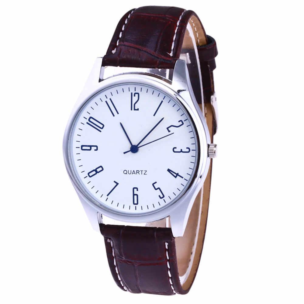Retro Design Leder Band Analog Quarz Armbanduhr Herren Uhren Top Marke Relogio Masculino Business homme Uhr Geschenk 2019