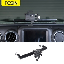 TESIN GPS Stand Halter für Jeep Gladiator JT 2018 + Auto Handy Unterstützung Halter Zubehör für Jeep Wrangler JL 2019 +