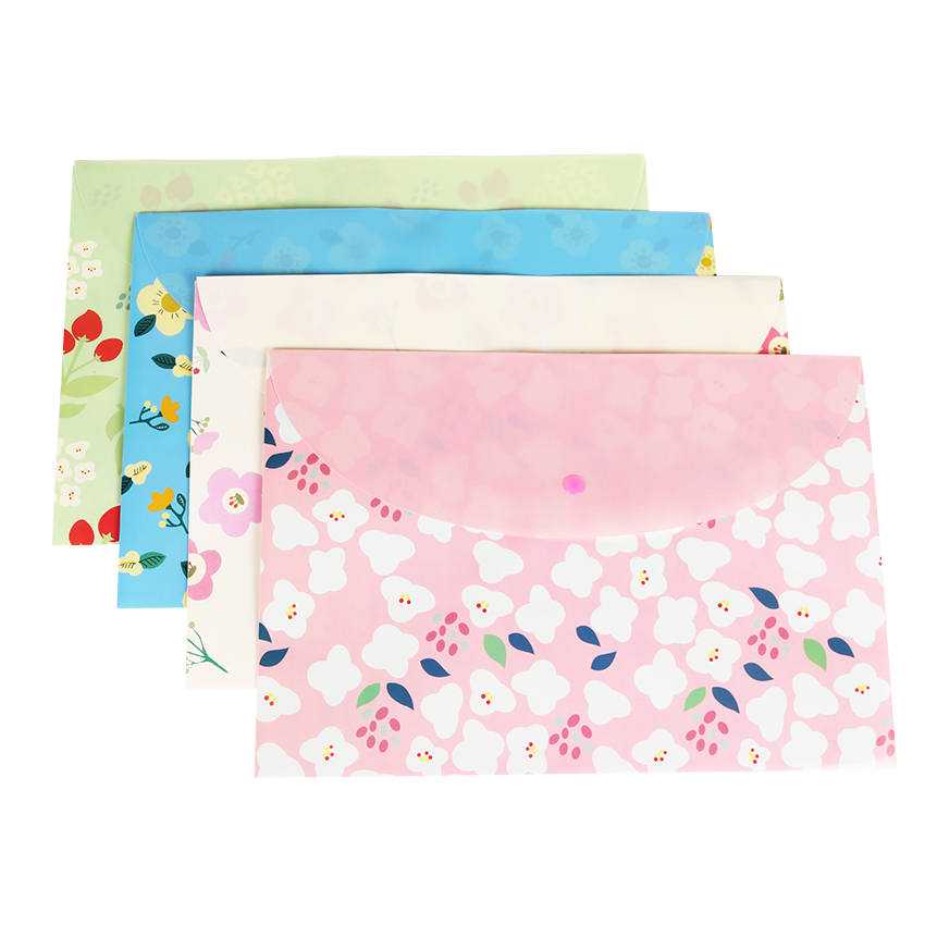 A4 Folders School Supplies Cartoon  Rabbit Folders Office Stationery Storage Document Bag For Student Gift 1PC