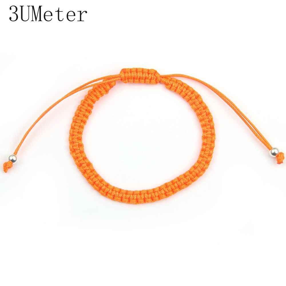 3 umeter venda quente 1 pc red thread string pulseira sorte vermelho verde artesanal corda pulseira para mulheres homem jóias amante casal