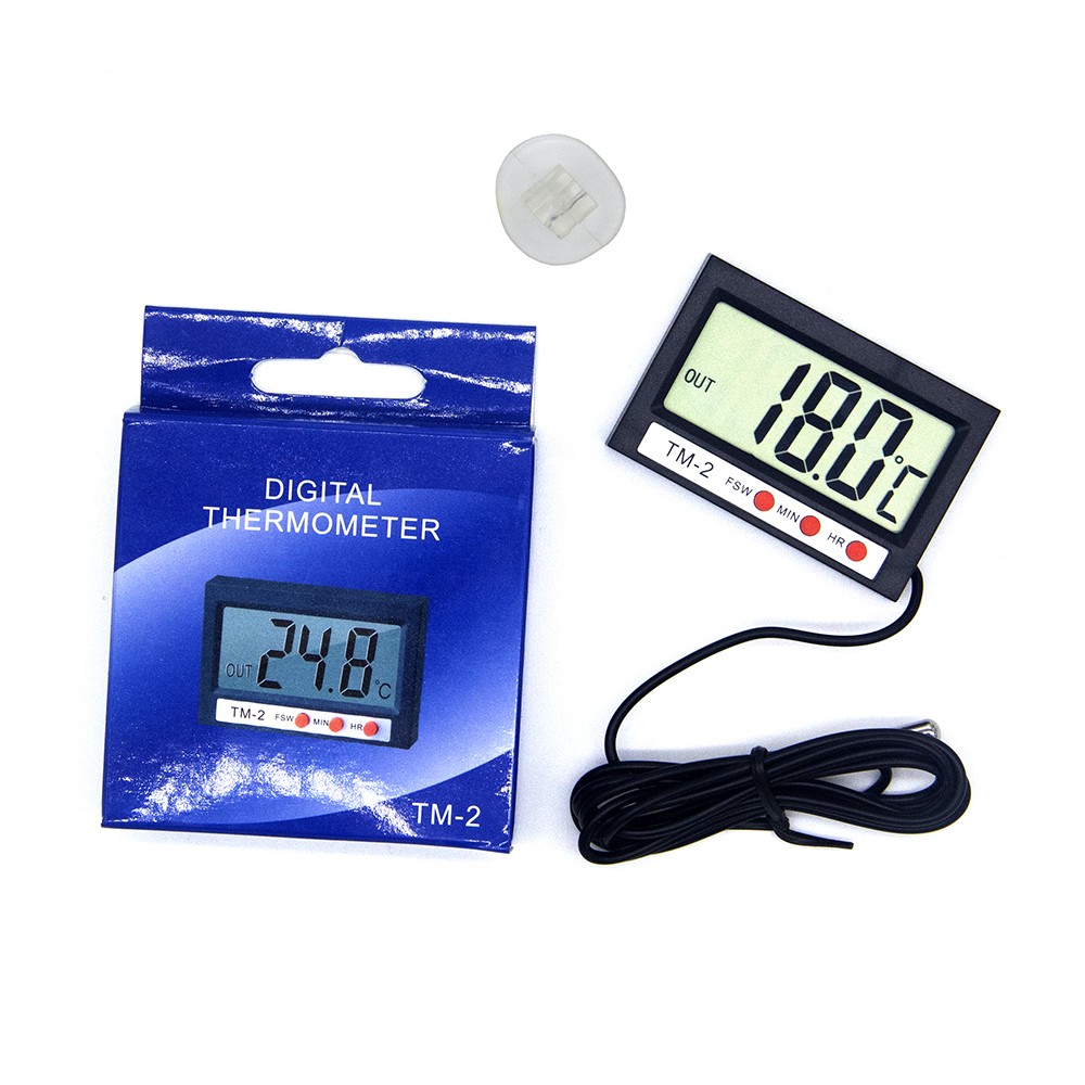 New LCD Digital Temperature Humidity Meter Home Indoor Outdoor hygrometer thermometer Weather Station with Clock