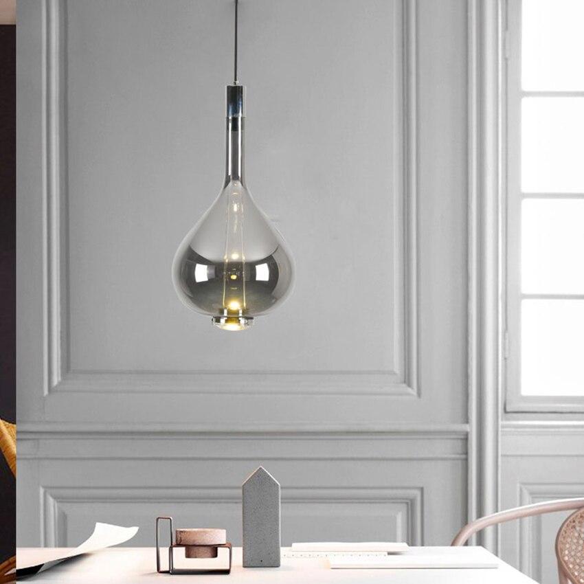 Design moderno di Arte Colorful LED Lampade a sospensione In Vetro LOFT di Illuminazione Lungo la Linea Lampada a Sospensione Ristorante Deco Coperta Light Fixtures - 5