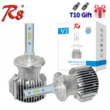 R8 V1 Series 72W 8000LM D1 D2 D2S D2R D3 D4 H4 H7 H8 H11 HB3 HB4 5202 LED Headlight Bulbs 6000K White For Head Lamp Fan Cooling bifi 2x v2 d1 d2 d3 d4 dc11 30v car headlights low beam white 72w lumens 8400lm titanium gray