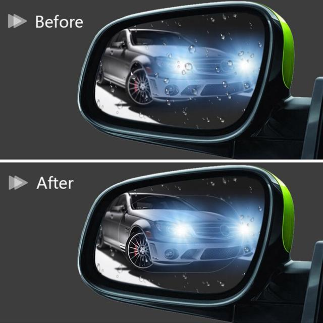2Pcs Car Rearview Mirror Protective Film Anti Rain Films Anti Fog Stickers Waterproof Rainproof Auto Styling Rainproof TSLM1 3