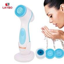 Escova de limpeza facial sonic nu rosto spin brush conjunto galvanica facial spa sistema para a pele limpeza profunda remover a máquina cravo