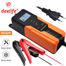 Deelife 6V Kids Car Battery Charger for 12V Motorcycle Auto Smart Pulse Repair Maintenance Automatic Trickle Batteries Charging