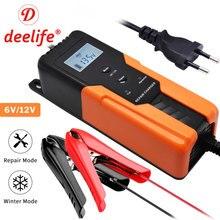 Deelife 6v crianças carregador de bateria carro para 12v motocicleta reparação pulso inteligente manutenção automático trickle baterias de carregamento