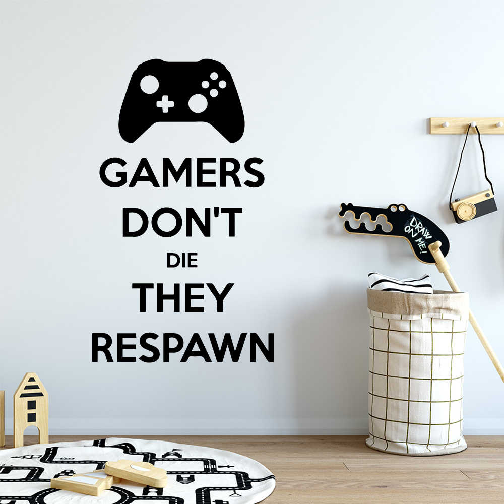 Man Cave //  PS Xbox #Squad Goals  Gaming Wall wall Art Sticker