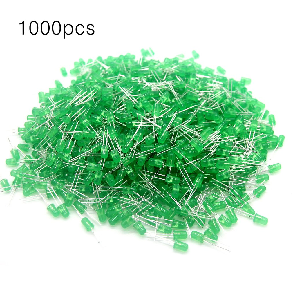 1000 Pieces 5mm Round LED Light Emitting Diodes Component Red/Green/Yellow/White/Blue LED Bulb Lamp Light Super Bright
