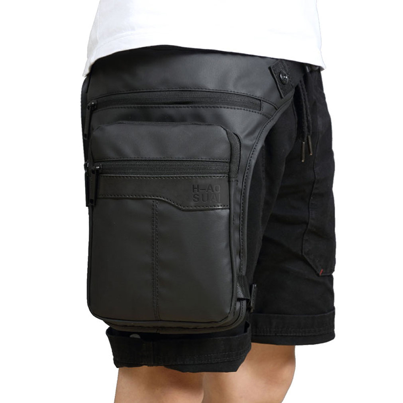 Men Waterproof Thigh Bag Waist Pack Fanny Packs Outdoor Riding Motorcycle Crossbody Hip Belt Bag Shoulder Bags Travel Chest Pack