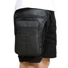 Mężczyźni wodoodporna torba na udo saszetka biodrowa Fanny Packs jazda na zewnątrz motocykl Crossbody torba biodrowa z paskiem torby na ramię torba piersiowa podróżna