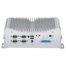 Mini PC Intel Core i5 8250U Windows 10 DDR4 2*LAN RS232 RS422 RS485 GPIO LPT PS/2 HDMI VGA 6*USB WiFi Bluetooth 3G/4G SIM 9V-36V