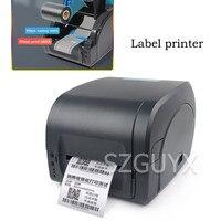 Impressora de código de barras de fita de papel de prata fosco multifuncional impressora de etiquetas de transferência térmica autoadesiva comercial