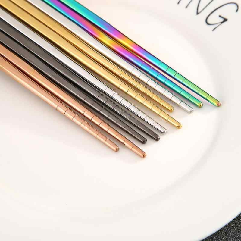 再利用可能な箸家庭用カラフルなアンチスキッド食品スティック環境保護食器プレゼント
