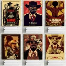Quentin tarantino filme cartazes django unchained retro kraft papel poster impressão da parede arte do vintage poster decoração de casa