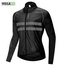 WOSAWE Сверхлегкий Светоотражающие Для Мужчин's велосипедная куртка с длинным Водонепроницаемый ветрозащитный дорога горный велосипед куртк...