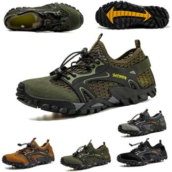 Męskie oddychające buty do wody odkryte buty do pływania szybkoschnące sportowe buty buty rybackie trening Fitness buty do jogi tanie i dobre opinie R xjian CN (pochodzenie) Dobrze pasuje do rozmiaru wybierz swój normalny rozmiar Spring2019 Sznurowane Profesjonalne Szybkie suszenie