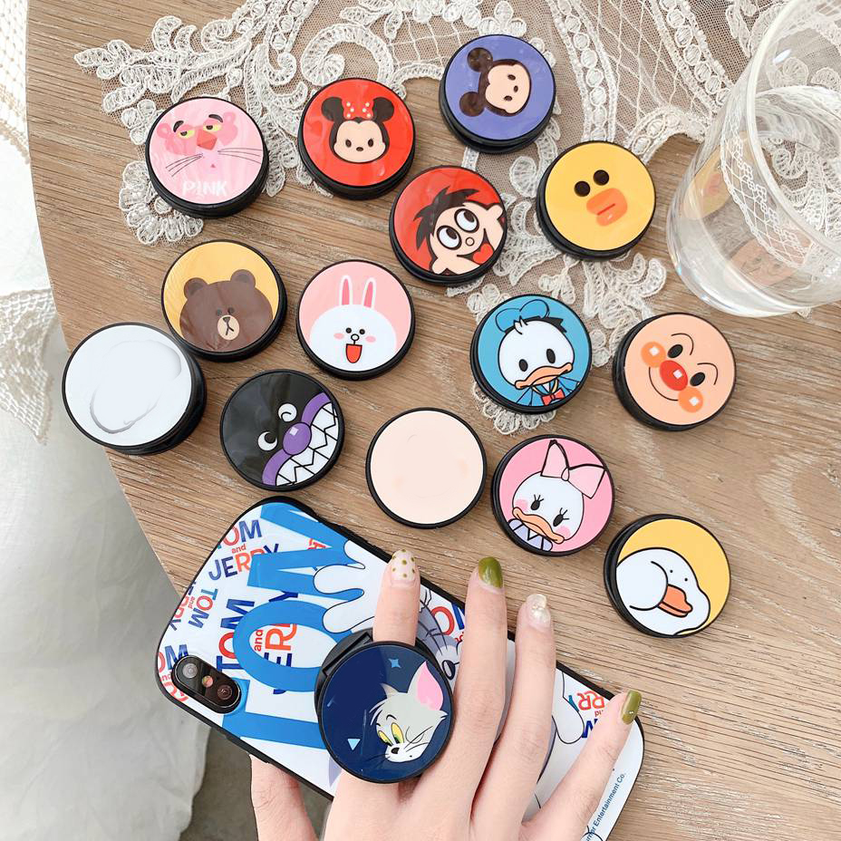 Tik Tok Holder Expanding Stand Finger Ring Holder Cute Cartoon Holder Universal Mobile Phone  For IPhone Xiami Huawei Phone Grip