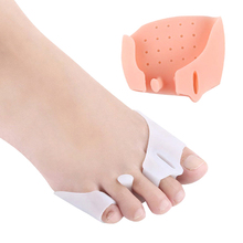 2Pcs Toe Separator Ball Of Foot Cushions Hallux Valgus Foot Care Forefoot Pads Spreader For Bunion Corns Overlapping