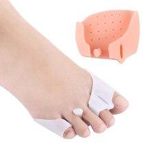 2 adet ayak ayırıcı ayak ayak yastıkları halluks Valgus ayak bakımı ön ayak pedleri serpme Bunion mısır örtüşen
