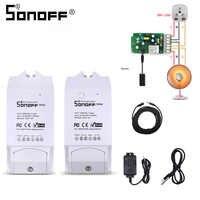 SONOFF TH10/TH16 DS18B20/SI7021/Al560 Temperatue Humidity Sensor Extension Cable Monitor Wireless Wifi Smart Light Switch Alexa