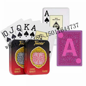 цена на fournier 2818 Perspective Playing Cards for infrared Contact lens Magic Trick Decks Anti Gamble Cheat Poker Rigged Cards