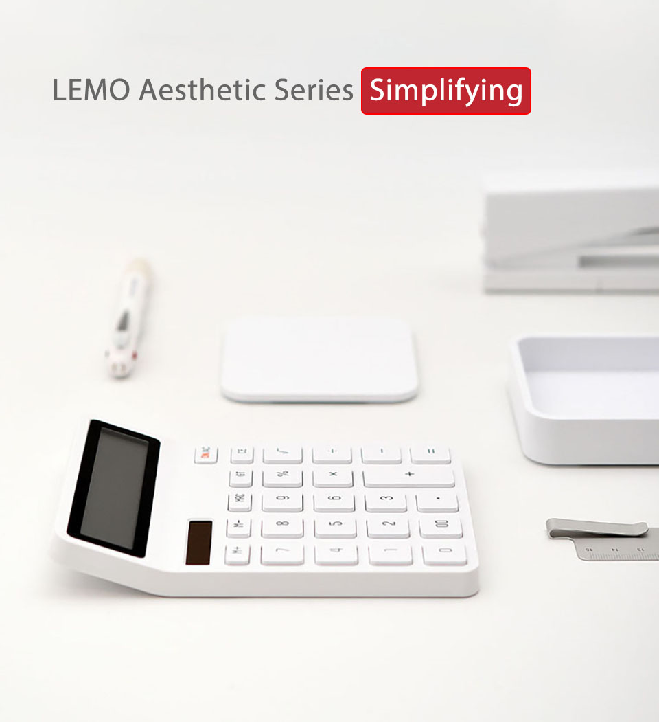 LEMO Desktop Calculator -White