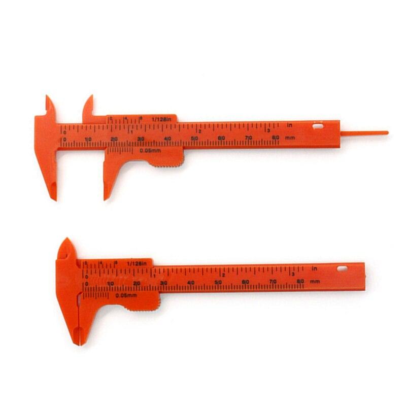 0-80mm 0.5mm Vernier Caliper Double Scale Plastic Measuring Student Mini Tool Ruler DIY Model Making