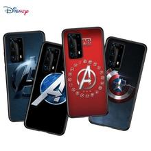 Marvel moda logo Huawei P40 P30 P20 Pro P10 P9 P8 Lite RU E Mini artı 2019 2017 siyah telefon kılıfı