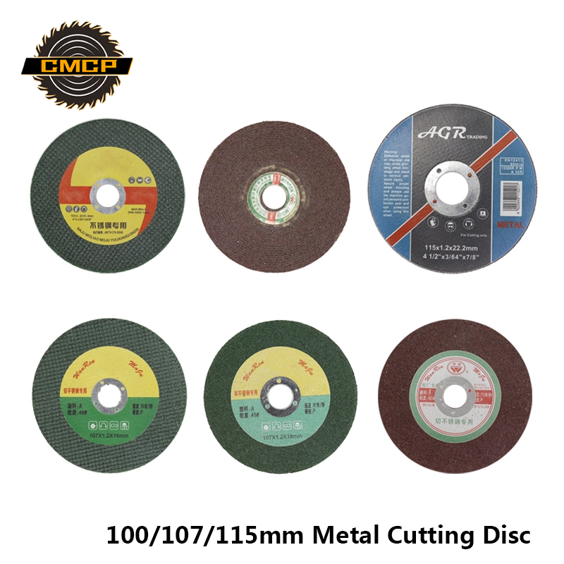 CMCP 100/107/115mm Metal Cutting Disc For Cutting Stainless Steel Resin Cutting Disc Cut Off Wheels For Angle Grinder Saw Disc