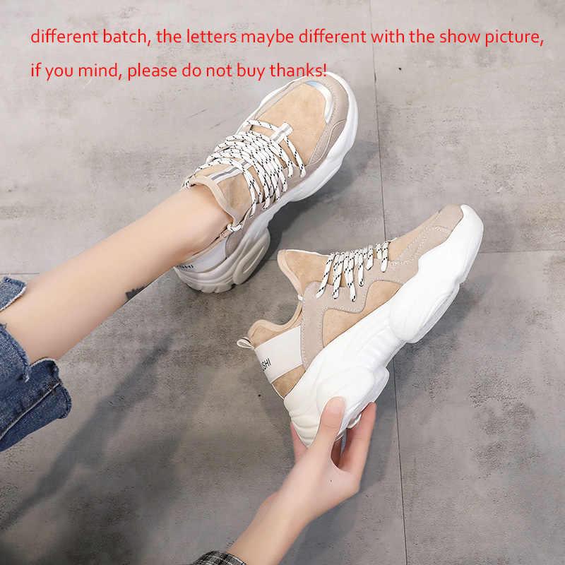 Frauen Casual Schuhe Femme 2019 Frühling Herbst Schuhe Frauen Turnschuhe Wohnungen Fashion Lace-Up weiß Atmungs frau Turnschuhe