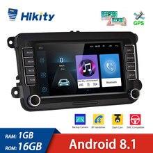 "Hikity 2 Dinรถวิทยุ7 ""HD Android 8.1เครื่องเล่นมัลติมีเดียFM WIFIนำทางGPS AutoradioสำหรับSkoda VW Passat B6 Polo Golf"