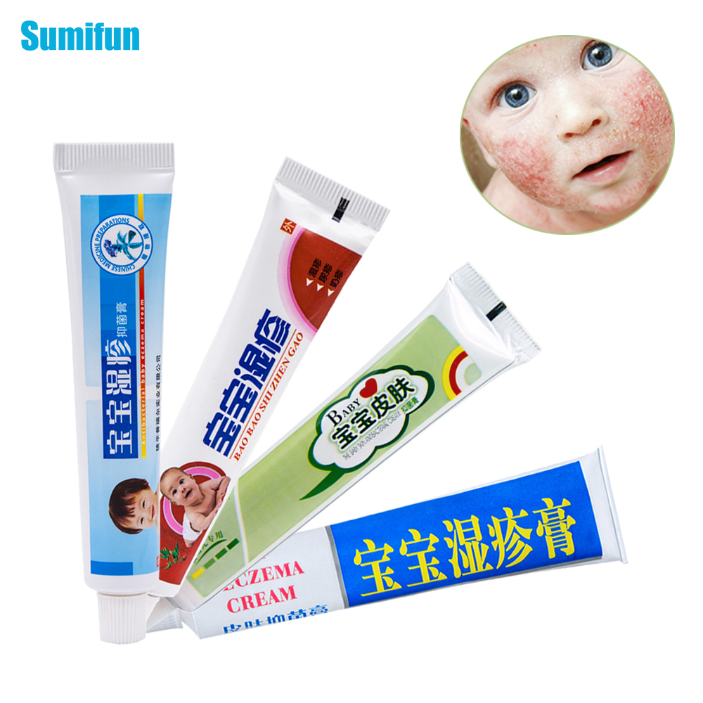 4 Different Type Baby Eczema Cream Psoriasis Pruritus Dermatitis Itching Body Pain Killer Chinese Herbal Medical Ointment