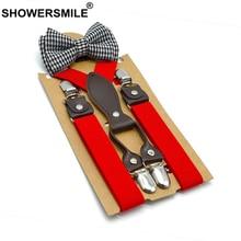 Red Baby Suspenders with Bow Tie Gray Kids Suspenders Set Olid Wedding Braces for Children 65cm*2.5
