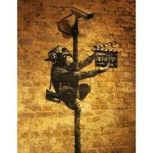 Diy картина по номерам уличный набор для граффити маслом с принтом