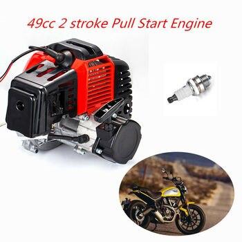Motor de arranque eléctrico de 2 tiempos de 49cc, Mini moto Scooter de bolsillo, ATV, Motor de bicicleta Buggy motorizada