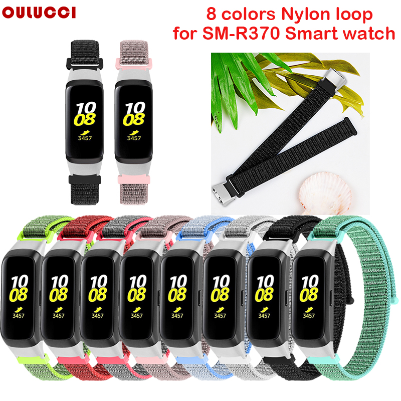 OULUCCI Soft Nylon Sport Loop Replacement Watch Band Strap For Samsung Galaxy Fit Sm-r370 Strap Bracelet