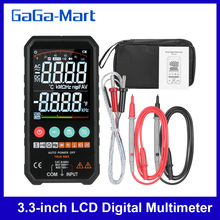 Digital Multimeter LCD 6000 Counts True RMS AC/DC Voltage Resistance Capacitance Frequency Continuity Diode NCV Test Temperature