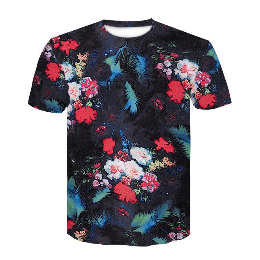ブランド花のtシャツ緑の葉ローズトップス雑草シャツファッション紳士服 3dプリントtシャツ男性 футболка мужская リルのぞき見
