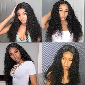 Image 3 - Lanqi, venta al por mayor, peluca con malla frontal con diadema, pelucas de cabello humano con encaje frontal brasileño para mujeres negras, peluca con cierre de encaje 4x4