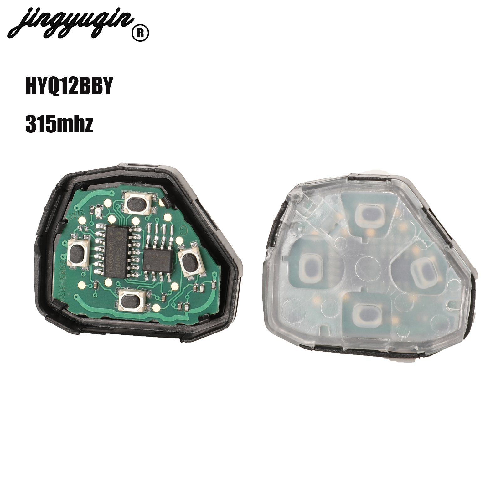 jingyuqin 3/4 Buttons Car <font><b>Remote</b></font> <font><b>Key</b></font> for <font><b>Toyota</b></font> Camry Avalon Corolla Matrix RAV4 Venza <font><b>Yaris</b></font> HyQ12BBY 314.4 Mhz image