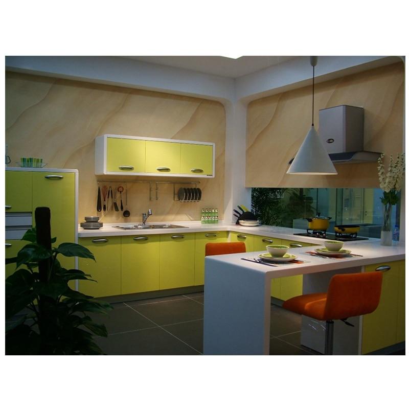 US $550.0 |Di colore giallo brillante design moderno set da cucina K021-in  Mobili da cucina da Miglioramento della casa su AliExpress