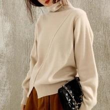 turtleneck outwear wool knit